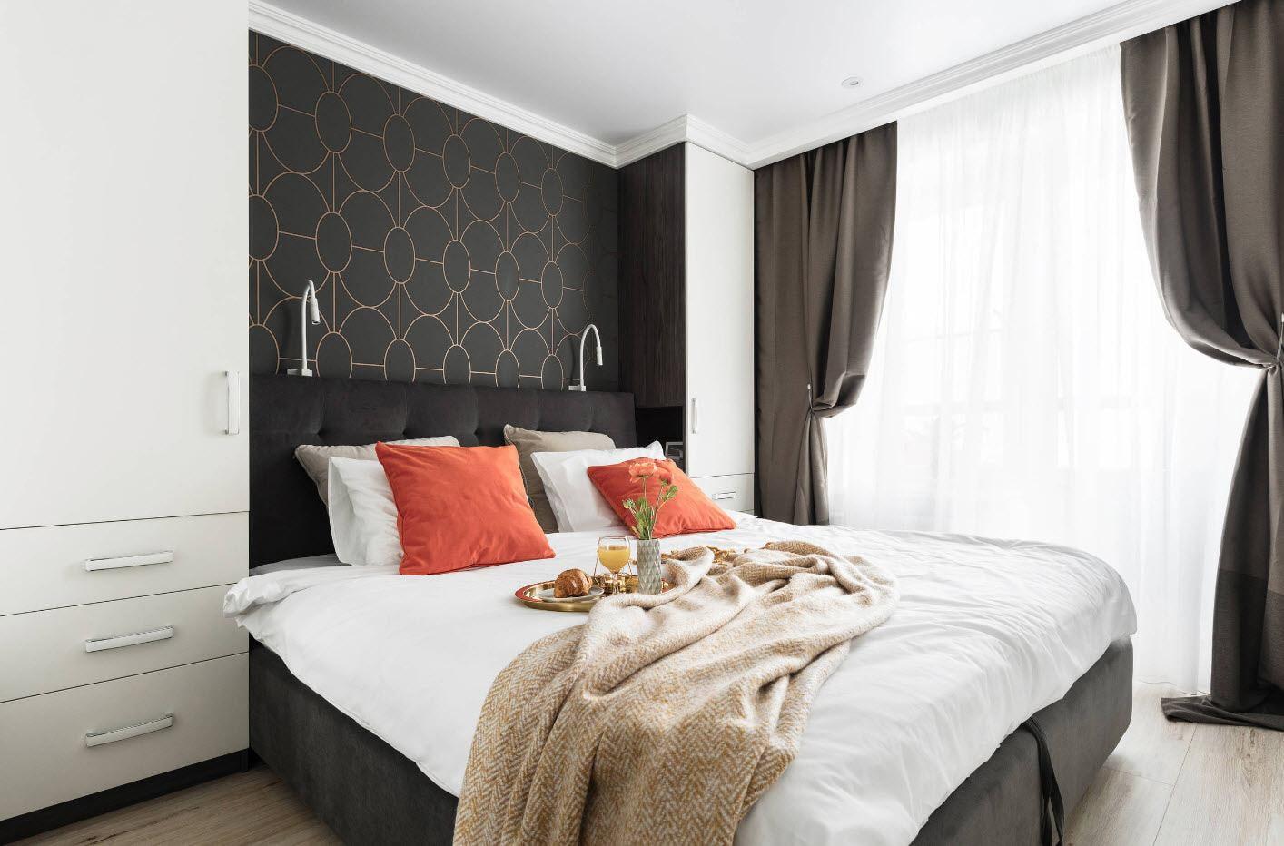 спальня 12 кв м дизайн