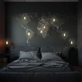 спальня чёрного цвета дизайн идеи
