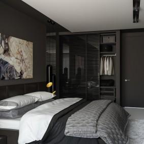 спальня чёрного цвета идеи дизайн