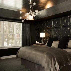 спальня чёрного цвета варианты фото