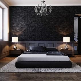 спальня чёрного цвета