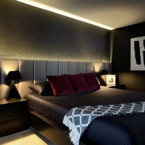 спальня чёрного цвета фото вариантов