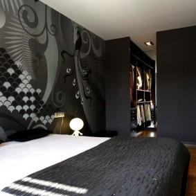 спальня чёрного цвета фото видов