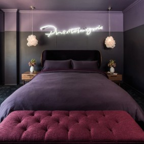 спальня чёрного цвета фото дизайн