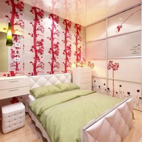 спальня и детская в одной комнате декор