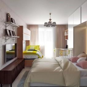 спальня и детская в одной комнате фото декора