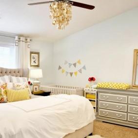 спальня и детская в одной комнате фото дизайн