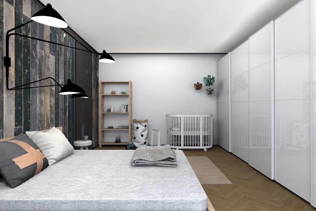 детская и спальня в одной комнате фото интерьер