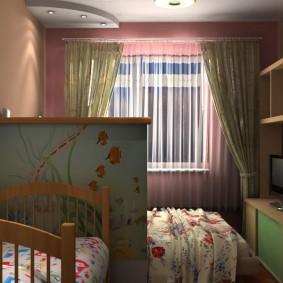 спальня и детская в одной комнате фото оформление