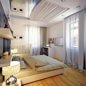 спальня и детская в одной комнате фото оформления