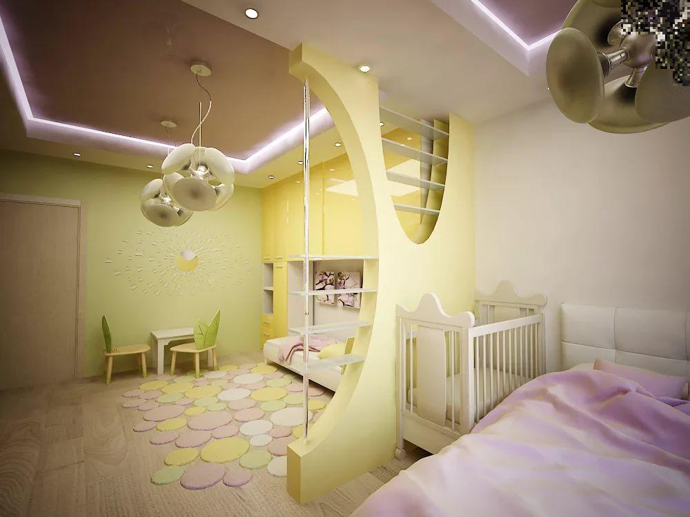 спальня и детская в одной комнате идеи обзор