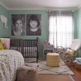 спальня и детская в одной комнате идеи оформление