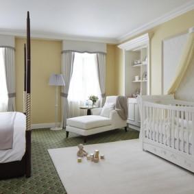 спальня и детская в одной комнате идеи оформления