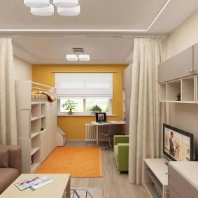 спальня и детская в одной комнате идеи вариантов
