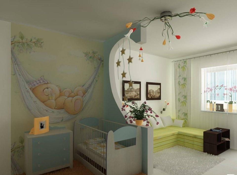 спальня и детская в одной комнате оформление