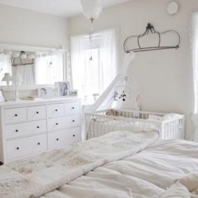 спальня и детская в одной комнате виды