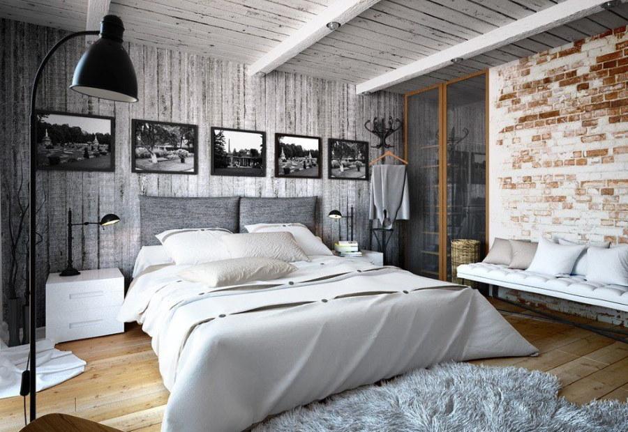 Настольные лампы в спальне индустриального стиля
