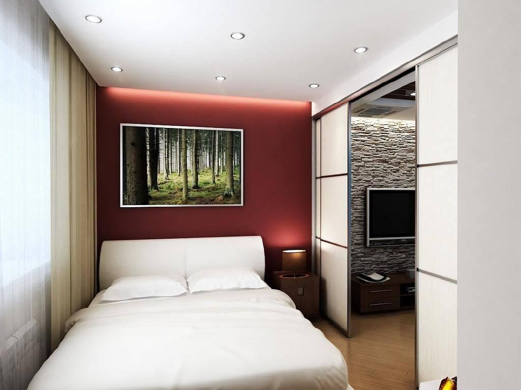 спальня в однокомнатной квартире дизайн