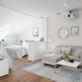 спальня в однокомнатной квартире фото дизайна