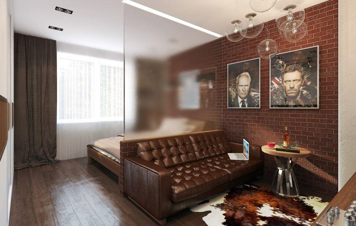 спальня в однокомнатной квартире идеи дизайна