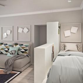 спальня в однокомнатной квартире интерьер фото