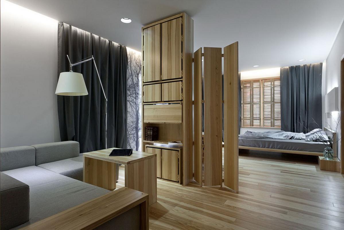 спальня в однокомнатной квартире перегородка перегородка