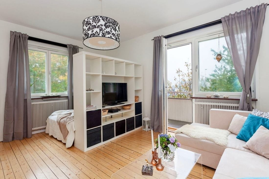 спальня в однокомнатной квартире варианты