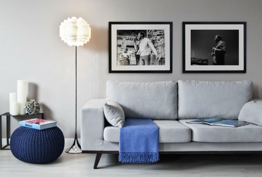 Подбор обивки дивана под стены в маленькой комнате