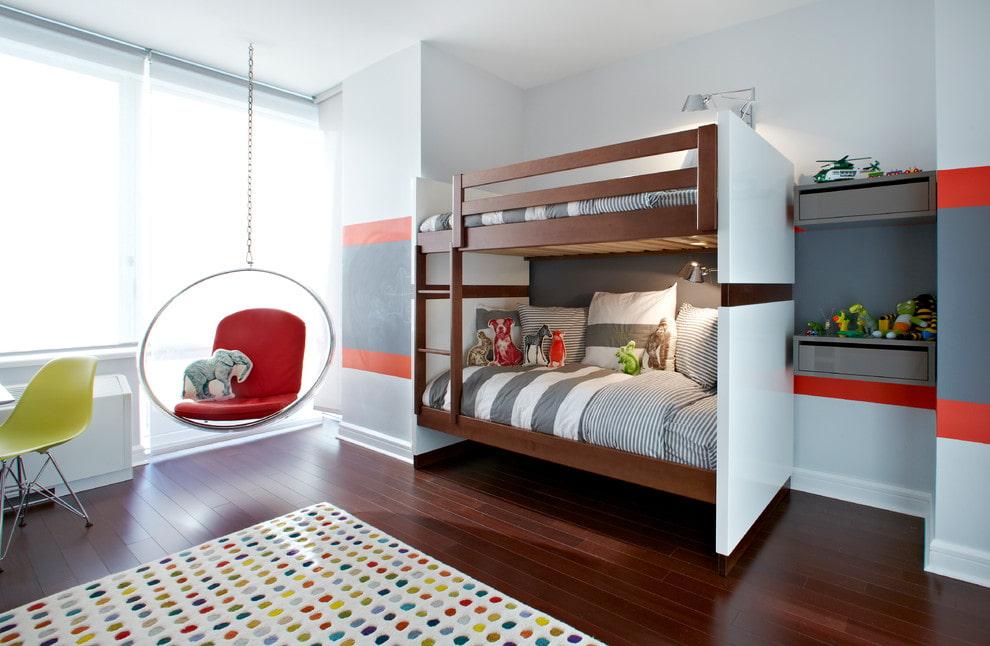 Фото типовой двухъярусной кровати для детей