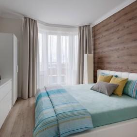 стена за кроватью в спальне фото оформление