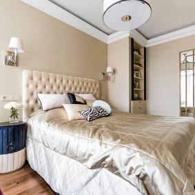 стена за кроватью в спальне идеи оформление