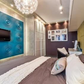 стена за кроватью в спальне варианты