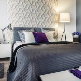стена за кроватью в спальне варианты фото
