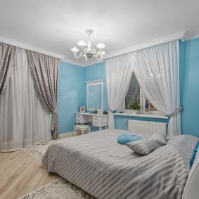 стена за кроватью в спальне идеи варианты
