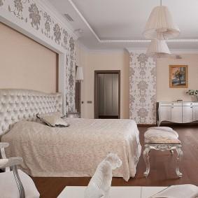 стена за кроватью в спальне фото видов