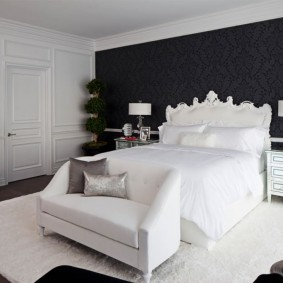 стена за кроватью в спальне идеи виды