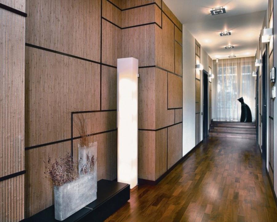 Стеновые панели в отделке узкого коридора