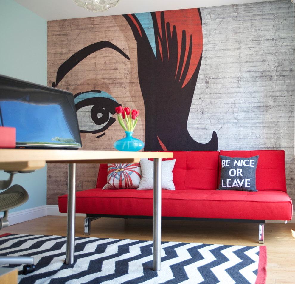 Подбор дивана в комнату с ярким дизайном