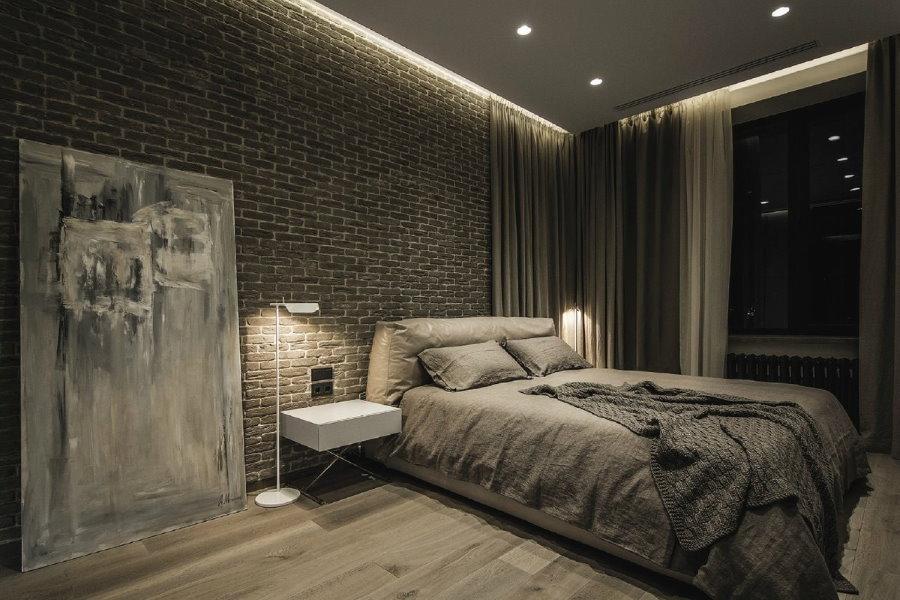 Декорирование спальной комнаты для мужчины