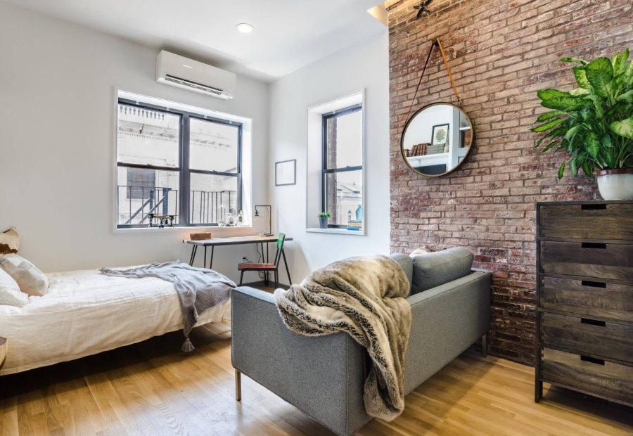 Спальня-гостиная в смешанном стиле интерьера