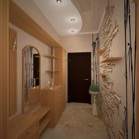 узкий коридор в квартире фото декор