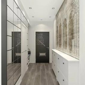 узкий коридор в квартире декор идеи