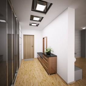 узкий коридор в квартире интерьер фото