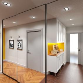 узкий коридор в квартире фото оформления