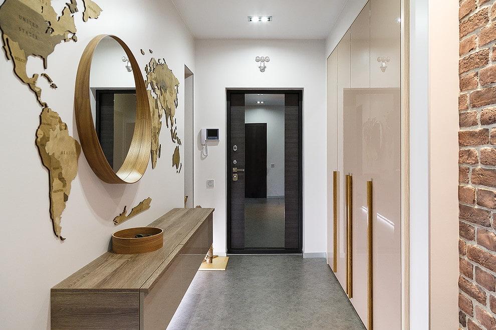 узкий коридор в современном стиле