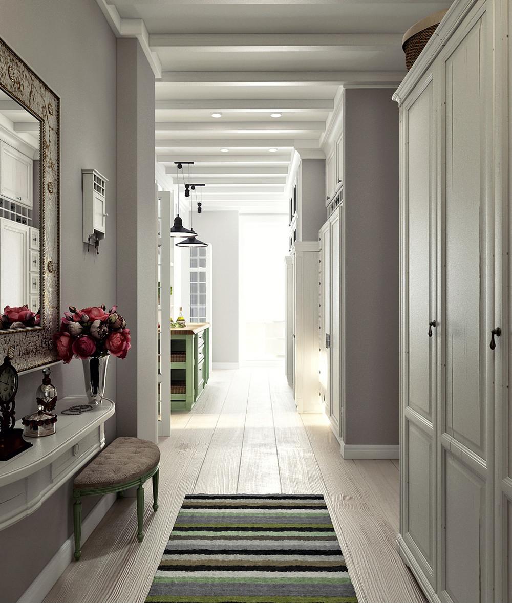 вид узкого коридора