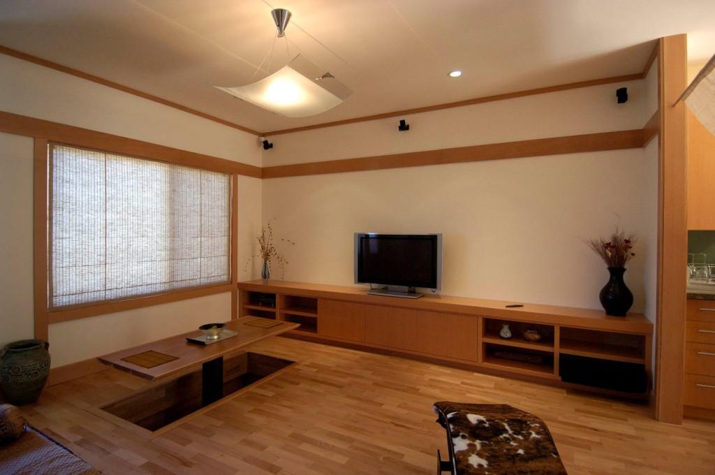 Отделка гостиной комнаты в восточном стиле