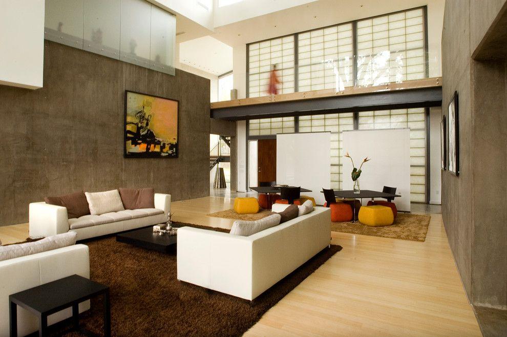 Декор гостиной комнаты в японском стиле