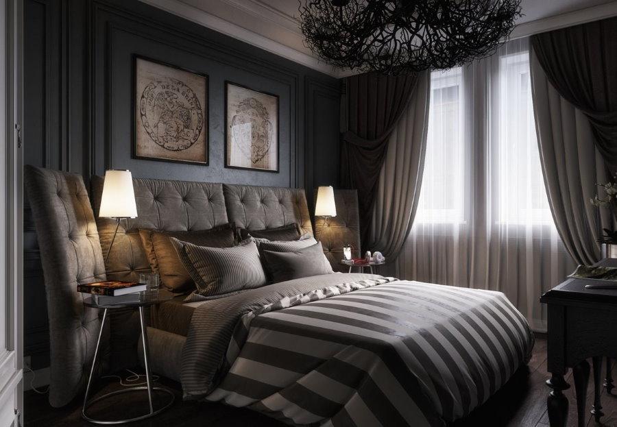 Небольшая комната молодого человека в стиле арт-деко