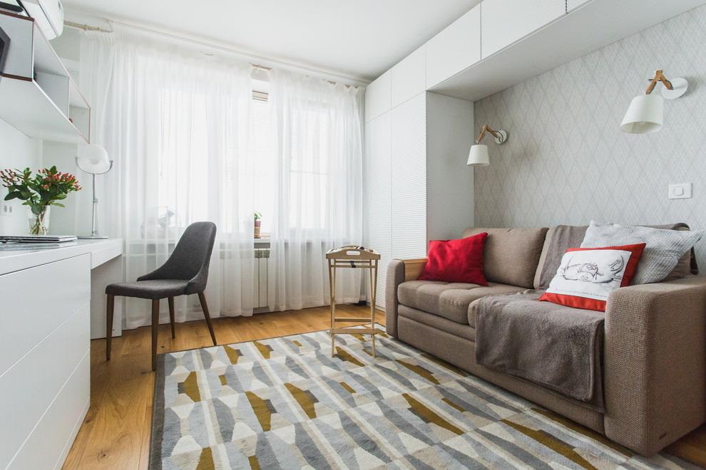 Визуальное увеличение комнаты с помощью штор